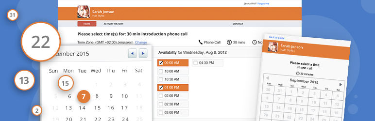 Appointment Booking and Online Scheduling Free WordPress Plugin