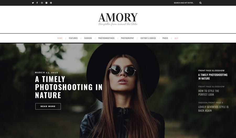 Armory Creative Blog WordPress Theme