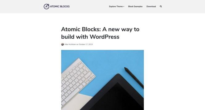Atomic Blocks - Meilleurs thèmes WordPress pour Gutenberg