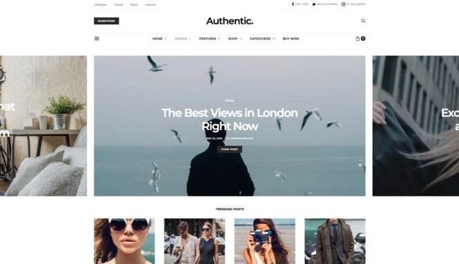 Thème WordPress pour le blog Lifestyle authentique