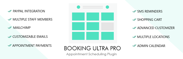 Booking Ultra Pro Appointments Calendar Free WordPress Plugin