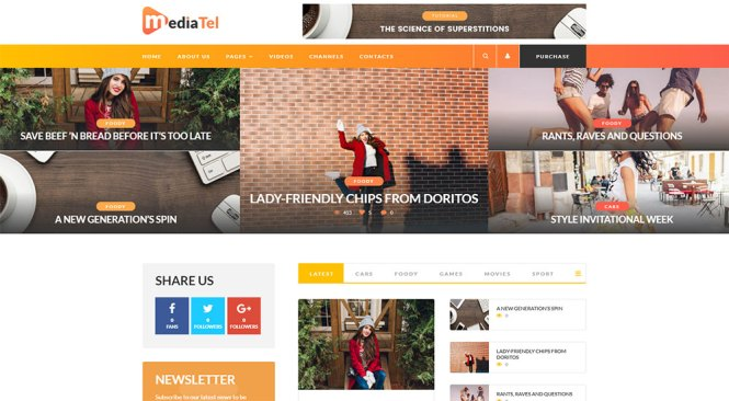 Thème WordPress de MediaTel