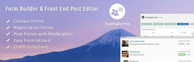 BuddyForms WordPress et BuddyPress Form Builder