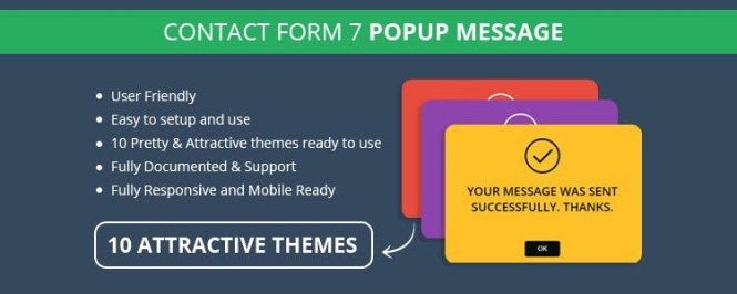 Formulaire de contact 7 Extension Premium Message Popup