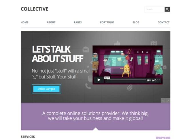 Thème WordPress pour entreprise collective