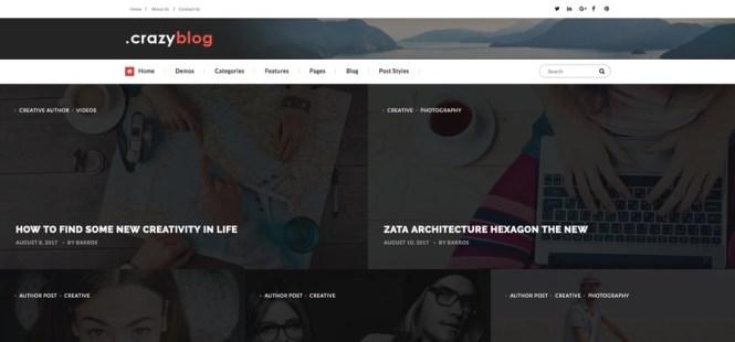 Thème WordPress du magazine Crazyblog