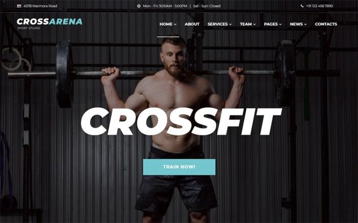 Cross Arena Crossfit Studio Elementor WordPress Theme
