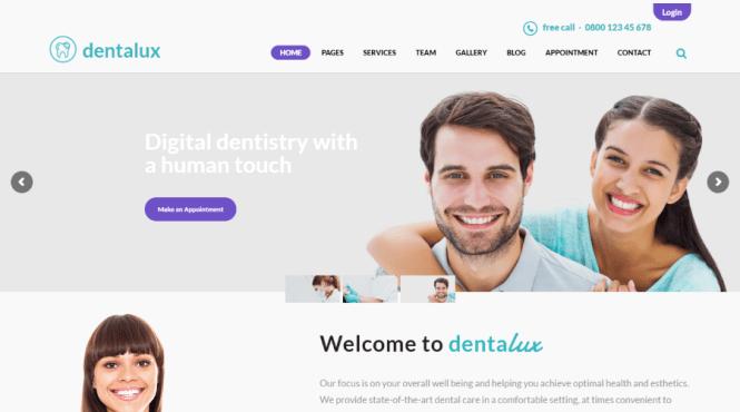 Thème WordPress Dentalux Dental
