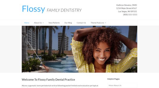 Thème WordPress total de dentisterie