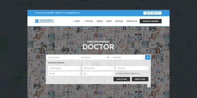 Répertoire WordDirect Healthcare Répertoire Thème WordPress