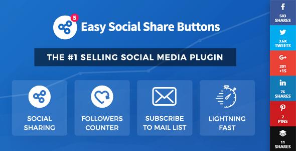 Boutons de partage social faciles pour WordPress