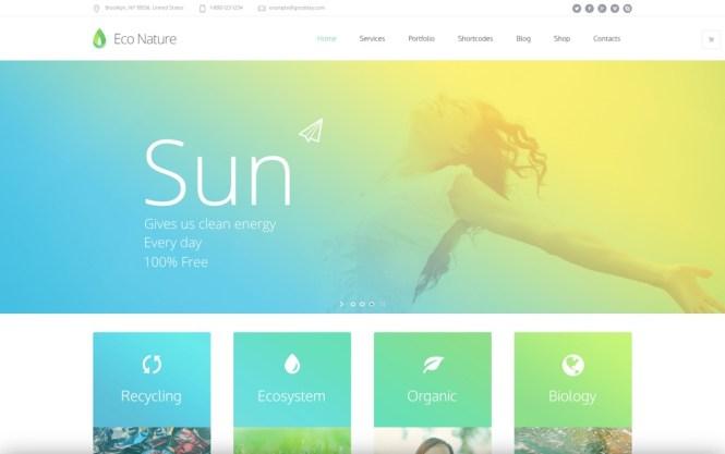 Thème WordPress Eco Nature