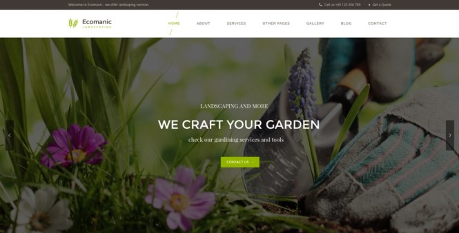 Thème WordPress pour le jardinage, l'entretien des pelouses et l'aménagement paysager