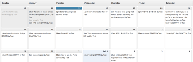 Plugin WordPress pour calendrier éditorial