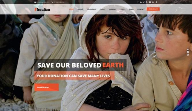 Elevation Thème WordPress pour organismes de bienfaisance, sans but lucratif et pour campagnes de financement