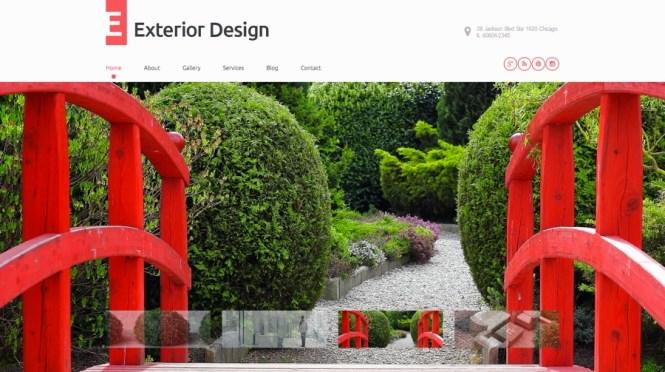 Thème WordPress pour design extérieur