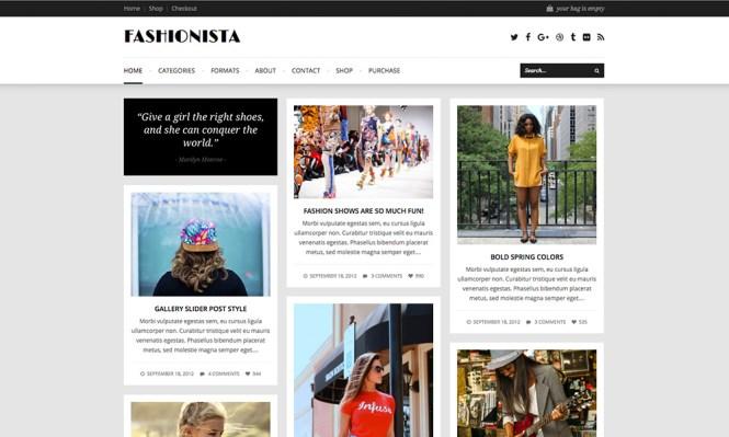 Thème WordPress Fashionista