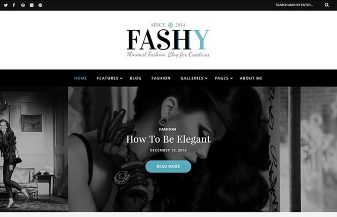 Thème WordPress du blog Fashy Fashion