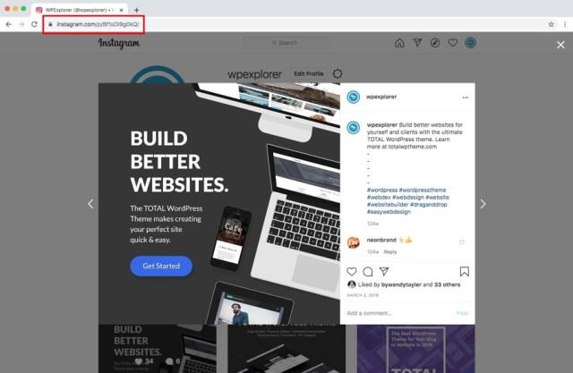 WordPress Instagram Embeds