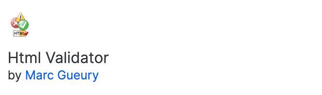 Module complémentaire Firefox - Validateur HTML