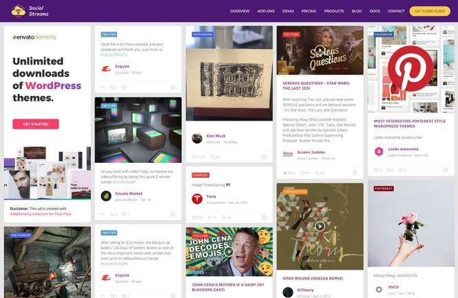 Plugin Flux WordPress pour flux social