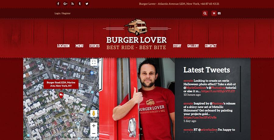 Food Truck & Ресторан WordPress Theme