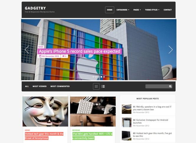 Thème WordPress gratuit Gadgetry