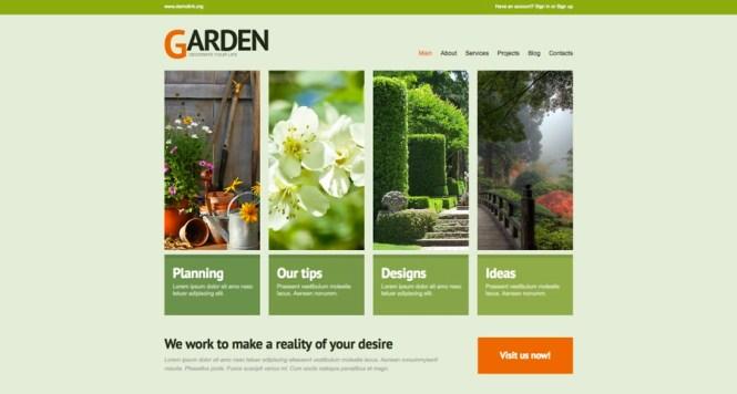 Thème WordPress de conception de jardinage
