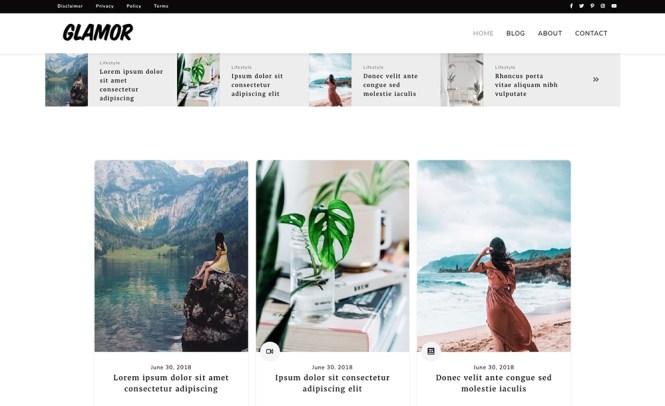 Un thème de blog Glam polyvalent