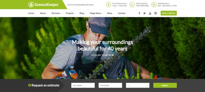 GreensKeeper Gardening & Landscaping Thème WordPress
