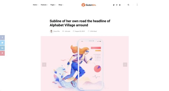 Gutentim - Meilleurs thèmes WordPress Gutenberg