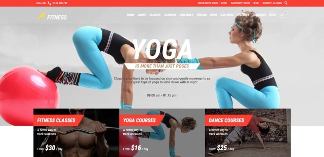 Thème WordPress de Fitness Sport Gym