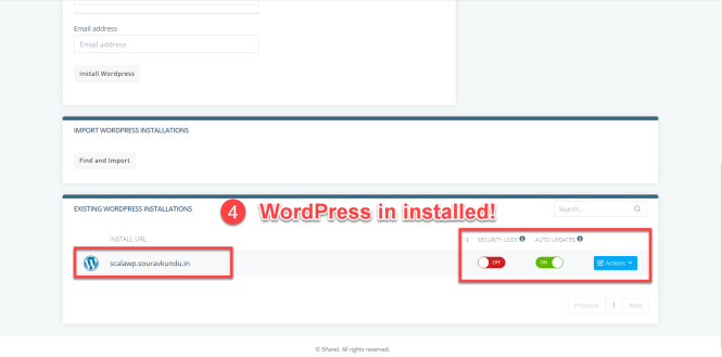 comment installer wordpress scala hébergement wordpress manager partie 3