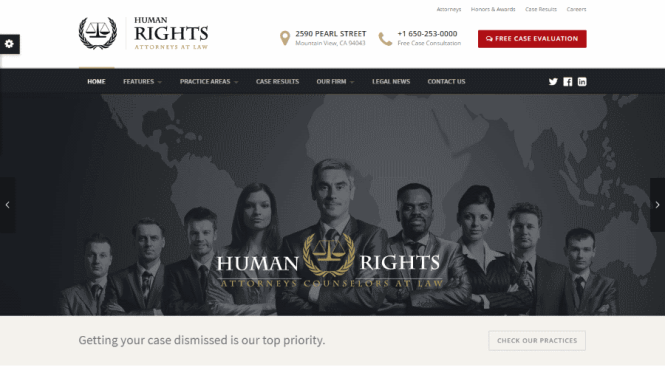 Thème WordPress droits de l'homme