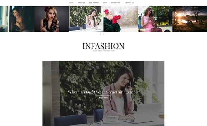 Thème Blogging & Magazine InFashion
