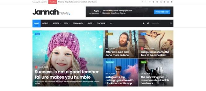 Jannah Journal, Magazine et AMP News Thème WordPress