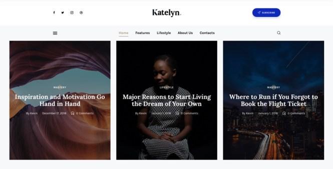 Katelyn - Meilleurs thèmes WordPress Gutenberg