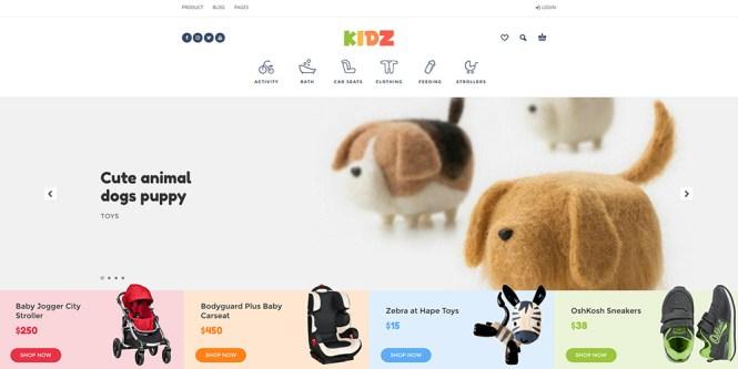 Thème WooCommerce de KIDZ Baby & Kids Store