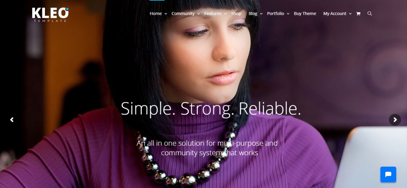 kleo community wordpress theme