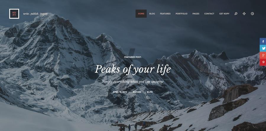Kopy Unique Blogging WordPress Theme