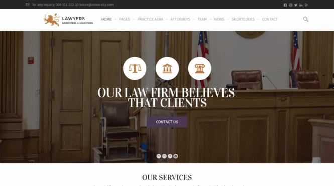 Law Practice WordPress Theme