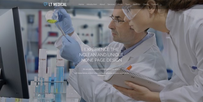 LT Medical Onepage Thème WordPress