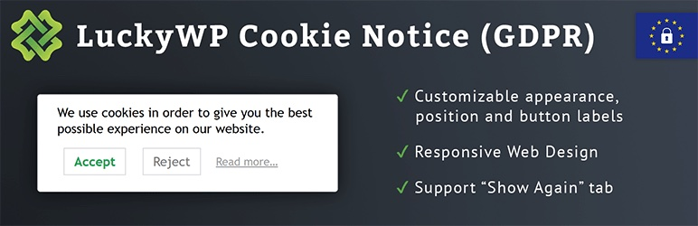 LuckyWP Cookie Notice Plugin