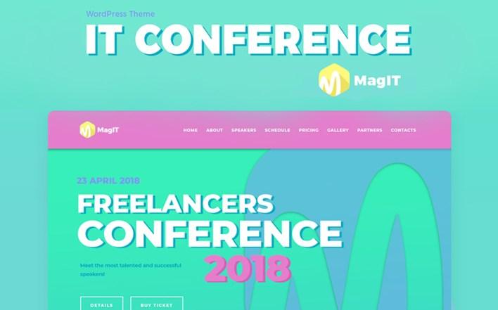 MagIT Conference Elementor WordPress Theme