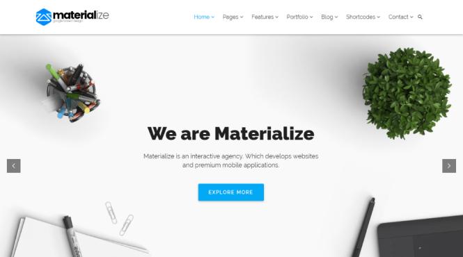 Materialise Material Design Multipurpose WordPress Thème