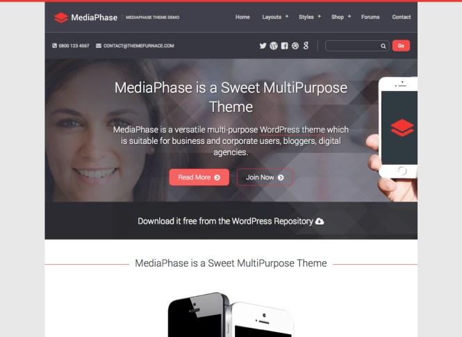Thème WordPress gratuit pour entreprise MediaPhase