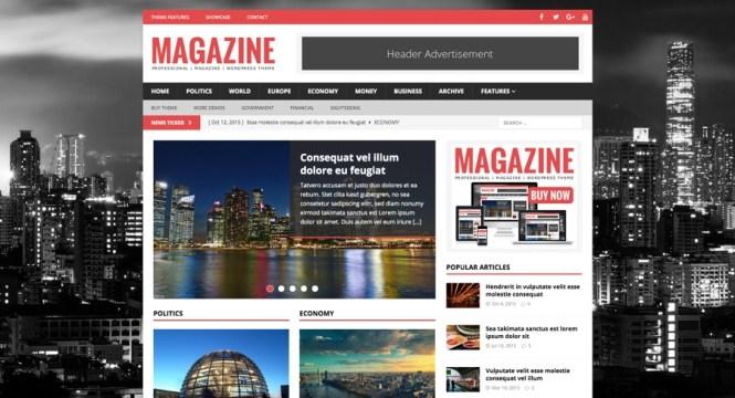 Thème WordPress pour le magazine Responsive Magazine de MH