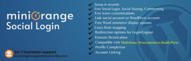 Connexion sociale WordPress Miniorange