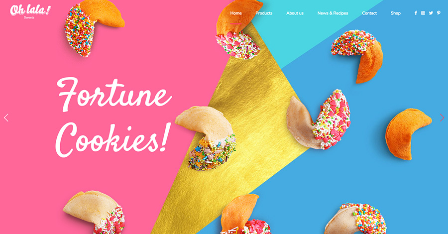 Ohlala Cake Shop, мороженое и соковый бар WordPress Theme