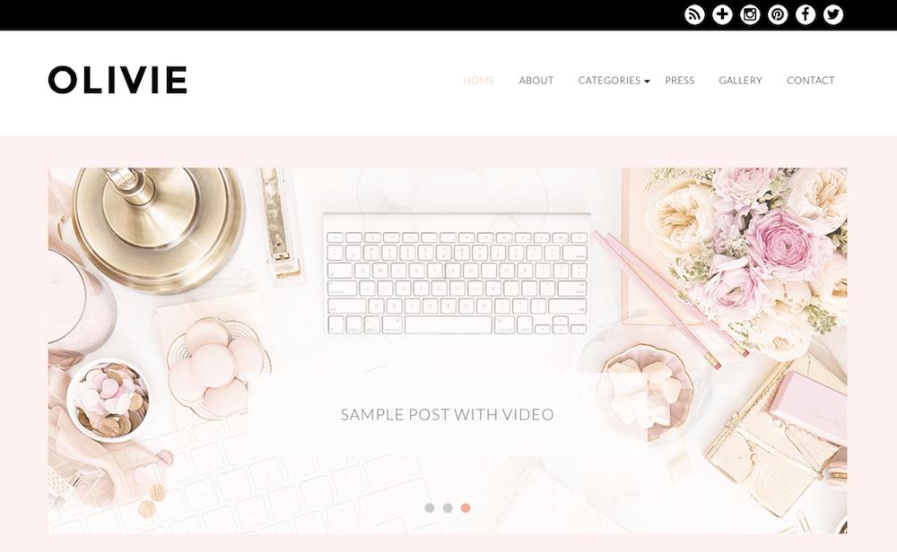 Olivie Beauty Blog WordPress theme